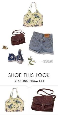 """""""The Change"""" by jaxdm ❤ liked on Polyvore featuring Brandy Melville, Levi's, Converse and Brahmin"""