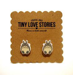 Image of Tiny Totoro Earrings, Jewelry, Kawaii, Geekery, Nerd, Anime, Trendcore