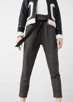 Pantalón algodón cinturón
