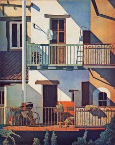 Villeneuf sur Lot , France - Marcel Schellekens Colour etching, 120 x 100 cm Marcel, France, Affordable Art, Ibiza, Street Art, Mansions, House Styles, Places, Outdoor Decor