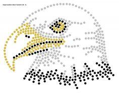 Roofvogel   Vogels en Vleermuizen   glittermotifs