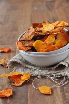 Baked sweet potato chips- for Noah