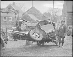The Boston Public Library boasts a collection of nearly 40,000 photos taken by Boston Herald-Traveler photographer Leslie Jones between 1917 and 1956—including this set of nearly 1000 auto accident photos taken in the Boston area.