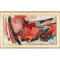 "Hale Woodruff (1900-1980), ""Red Landscape"""