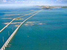 Marathon, FL...FL Keys, simply an amazing ride down to Key West, the different shades of blue and green on each side of you as you drive over the 7 mile bridge, are breathtaking