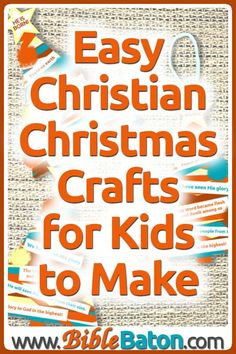 Dec 11, 2019 - Need easy children's Christmas crafts for your Sunday School or children's ministry? Here are the best Christian Christmas crafts for kids to make... Christian Christmas Crafts, Childrens Christmas Crafts, Preschool Christmas Crafts, Christmas Bible, Christmas Craft Projects, Christian Crafts, Christmas Crafts For Kids To Make, Christmas Ideas, Sensory Activities
