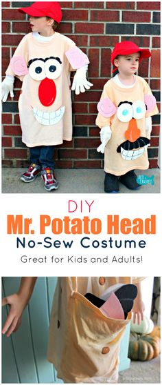 49 Easy DIY Halloween Costumes for Kids – Perfection Pending - Kids costumes Easy Disney Costumes, Funny Kid Costumes, Toy Story Costumes, Easy Costumes, Adult Costumes, Costume Ideas, Easy Homemade Halloween Costumes, Family Costumes, Meme Costume