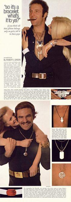 1972 Macho Jewelry with James Caan & Burt Reynolds
