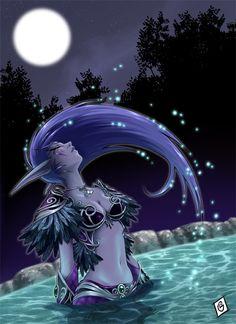 Warcraft:  Nightelf fanart