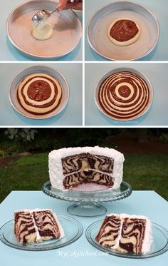 Zebra Striped Surprise Cake  Zebra striped cake can go with just about any party…