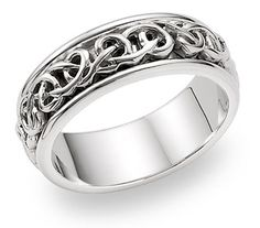 This is Kellys wedding band... he wanted something celtic and it is a close match to what I want for my wedding set!