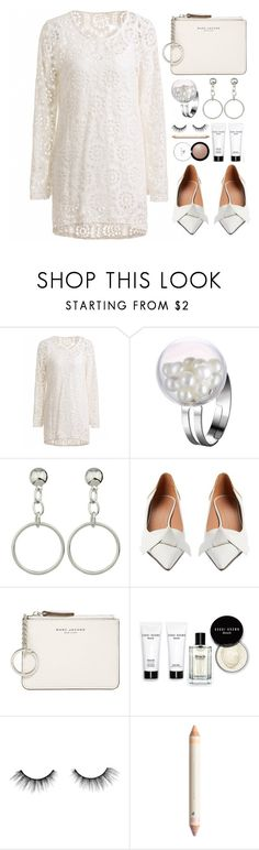 """White Style"" by simona-altobelli ❤ liked on Polyvore featuring Marni, Marc Jacobs, Bobbi Brown Cosmetics, tarte, monochrome, lace, MyStyle, whitedress and lacedress"