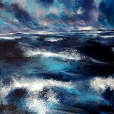 Stormy sea painting in Ireland