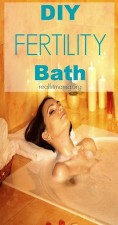 DIY Fertility Bath - use safe effective therapeutic oils to enhance your fertility and enjoy this relaxing treat! | realfitmama.org