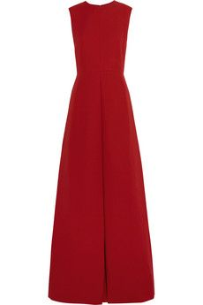 Valentino Pleated wool and silk-blend crepe gown | NET-A-PORTER - Jun.2014