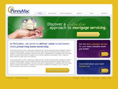 Website Design by Executionists for PennyMac (2007)