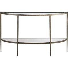 Clairemont Demilune Console Table In Coffee Tables U0026amp; Side Tables    Crate And Barrel Entrance