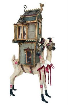 Imagine if this were real... I want a house that moves on a giant llama :)