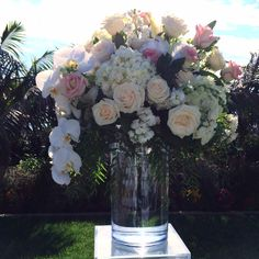 Wedding flowers - #sdweddingsbygina #blush #ceremony #centerpiece #luxury #sandiegoweddingplanner #pink #white