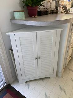 Maximize storage areas by utilizing corner space with the RiverRidge Home Ellsworth Collection-3 Shelf Corner Cabinet. Great for small room layouts. Corner Space, Corner Wall, Cabinet Doors, Tall Cabinet Storage, Bathroom Corner Cabinet, Small Room Layouts, Traditional Shutters, Bathroom Ensembles, Large Shelves
