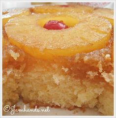 Just made this for dessert! Jam Hands: The Best Pineapple Upside Down Cake Just Desserts, Delicious Desserts, Yummy Food, Baking Recipes, Cake Recipes, Dessert Recipes, Cupcakes, Cupcake Cakes, Pineapple Cake