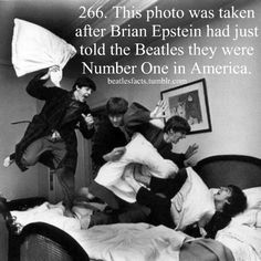 The Beatles -- from left, Paul McCartney, John Lennon, Ringo Starr and George Harrison -- letting off steam with a pillow fight. Harry Benson, Ringo Starr, John Lennon, George Harrison, The Beatles, Beatles Photos, Beatles Funny, Beatles Poster, Rock Music