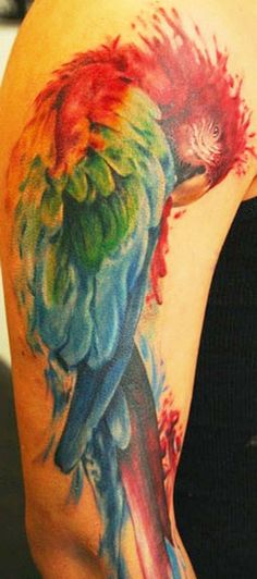 I have always imagined a maccaw on my back, any bird really, I just love every one of them.  ~ Gina ~
