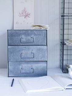 Cox & Cox zinc filing cabinet