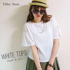 simple is best♡ . tops / Tiffee Store . . #fashion #coordinate #code #ootd #outfit #mylook #style #instafashion #kaumo_fashion #mamagirl #simplegirl #おしゃれさんと繋がりたい #コーデ #コーディネート #tiffeestore #ファッション #シンプルコーデ #ホワイトコーデ #袖フレア