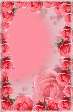 Very Beautiful Flowers, Beautiful Flowers Wallpapers, Pretty Wallpapers, Simple Iphone Wallpaper, Bling Wallpaper, Rose Flower Wallpaper, Flower Backgrounds, Rose Frame, Flower Frame