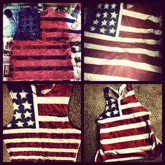 Patriotic. Fourth of July outfit.