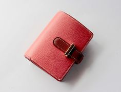 Leather wallet/Promotion/leather good/pink wallet/mini leather wallet/leathercraft/lady wallet/lady purse/leather purse