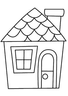 House colouring pages - Demandez le catalogue Art Drawings For Kids, Drawing For Kids, Easy Drawings, House Drawing Easy, Applique Patterns, Applique Quilts, Applique Designs, House Colouring Pages, Coloring Books