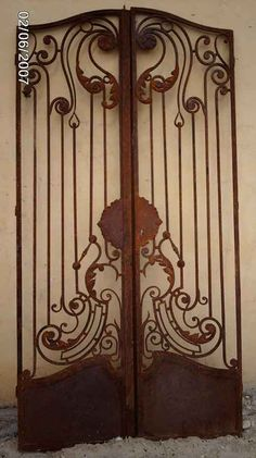 Iron Entrance Gates Designs | Wrought Iron Double Entry Gates 6