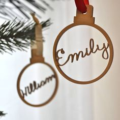personalised wooden name bauble by clouds and currents | notonthehighstreet.com