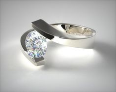 Design your own engagement ring with loose diamonds, fancy colored diamonds or gemstones in HD. See preset engagement rings, wedding rings and diamond jewelry. Platinum Engagement Rings, Engagement Ring Styles, Designer Engagement Rings, Unique Rings, Beautiful Rings, Tension Ring, Ring Verlobung, Solitaire Ring, White Gold Rings