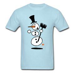 Dancing snowman. #Spreadshirt #Cardvibes #Tekenaartje #Winter #Snow