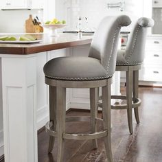 "Ellison Swivel Bar Height Bar Stool (30""H Seat)"