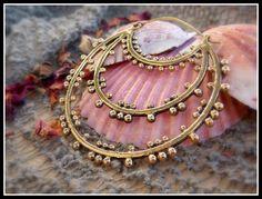 Brass hoops Tribal Earrings Ethnic Earrings por stoneagetale