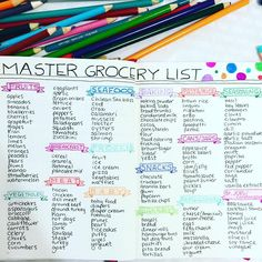 I honestly don't know why I didn't make a master grocery list sooner but I decided to keep this one simple. This is part 1 of my list. I couldn't fit everything on a 2 page spread but so far, I'm really happy with how this came out. This is going to get a lot of use in the future. // #bulletjournal #bulletjournaling #bulletjournaljunkies #bulletjournalcommunity #bujo #bujojunkies #bujolove #showmeyourplanner #bujoinspire #handlettering #planneraddict #plannercommunity #widn #may ...