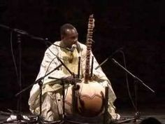 """A beautiful musical instrument called """"Kora"""" originated in the Sahel region in Africa (Mali & Niger). here is Toumani the master."""
