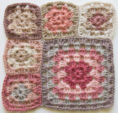 Fabulous color inspiration!! Crochet: Granny square blanket – thank goodness for swatching | Fibercrush Nice Colour inspiration!