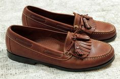 10b1c7c4fd1 Cole Haan Brown Leather Loafers with Tassels Womens Shoes Size 9.5   ColeHaan  Oxfords