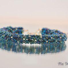 "Bracelet cristal swarovski bleu métallique ""personnalisable"""