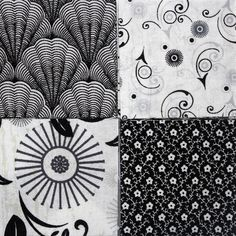 50 2 inch Fabric Quilting Squares  BLACK & by RedNeedleQuilts, $5.00