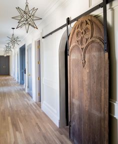 Click through to discover 9 tranquil, traditional, timeless interior design ideas plus inspiring house exteriors by The Fox Group! House Design, Door Design, House, Interior, Arched Barn Door, Interior Light Fixtures, House Exterior, Doors Interior, Home Decor