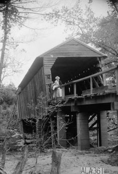 Cripple Deer Creek Covered Bridge -- Colbert County, Alabama -- April 29, 1936