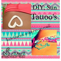 """DIY: Sun Tattoo"" by the-diy-tipster-girls on Polyvore"