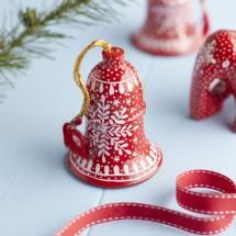 Red Handmade Bell Decoration