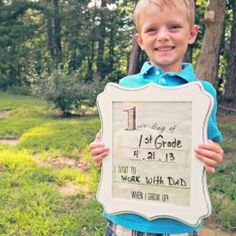 Create this DIY Dry Erase Frame for Back to School pictures. Need to do this every year for C! To see how different his answers will be